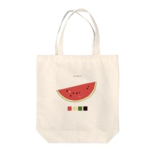 すいかのきりみ Tote bags