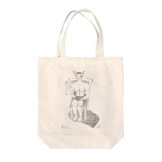 ムキツネの大冒険 Tote bags