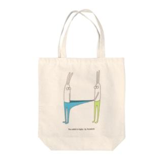 うさぎタイツとおともだち Tote bags