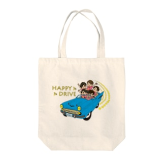 HAPPY DRIVE Tote bags