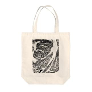 霜降りブラック Tote bags