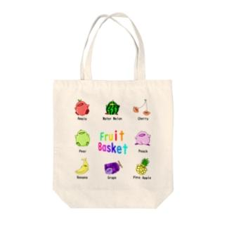 フルーツひよこっと Tote bags