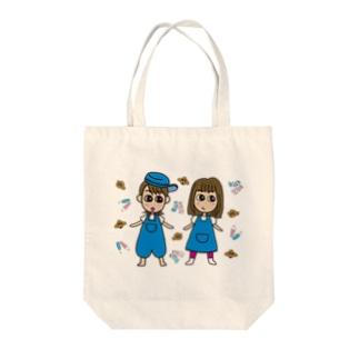 ゆきんこ&ふーちゃんプ トートバッグ Tote bags