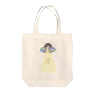 ララバイ Tote bags