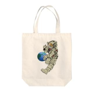 地球管理課 Tote bags
