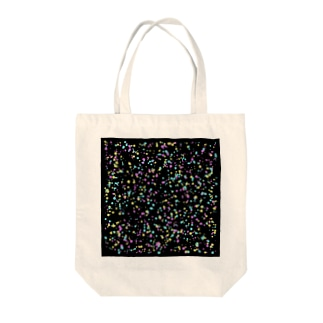 Random Paint01(Black) Tote bags