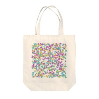 Random Paint02(White) Tote bags