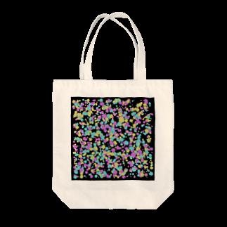 レオナのRandom Paint02(Black) Tote bags