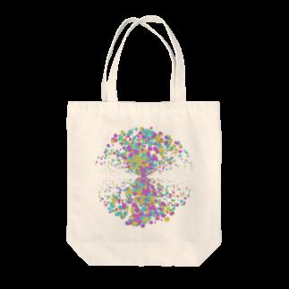 レオナのRandom Paint03(White) Tote bags