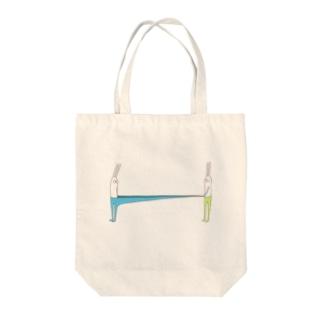 うさぎタイツとおともだち(ストロングタイプ) Tote bags