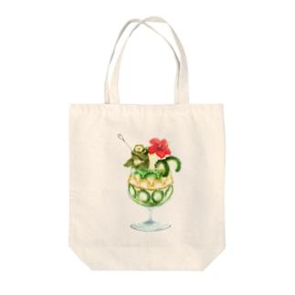 ゴーヤーパフェ Tote bags