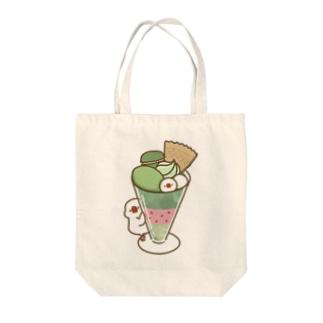 抹茶パフェ文鳥 Tote bags