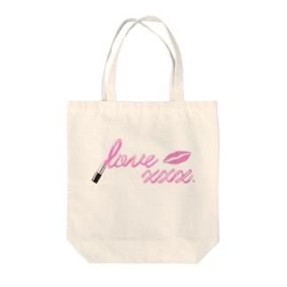 love  xxx.リップロゴ Tote bags