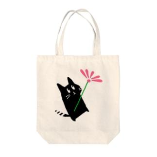 いむしゅ花 桃 Tote bags