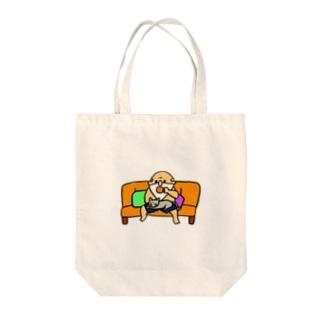 ひげおじさんの日常(優雅なティータイム) Tote bags