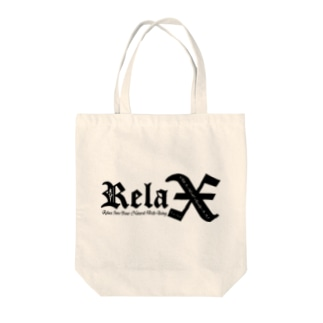 Relax(BLACK) Tote bags