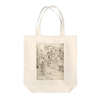 うさぎシリーズ Tote bags