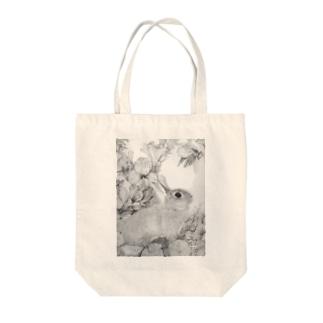 うさぎシリーズ2 Tote bags