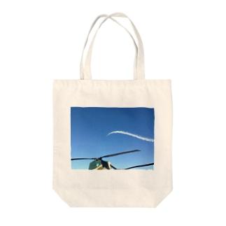 うねる飛行機雲 Tote bags
