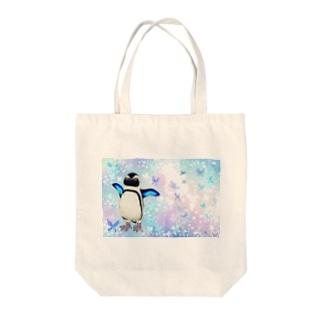 ケープペンギン「ちょうちょ追っかけてたらまいごになっちゃった…」 Tote bags