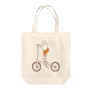ねこタイツと自転車 Tote bags