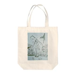 ようこそ海の世界へ Tote bags