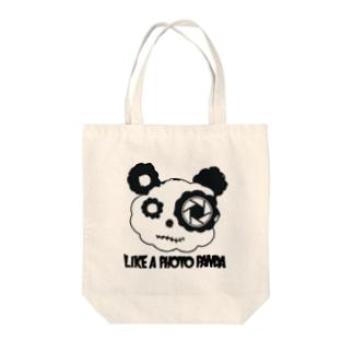LikeAPhotoPanda Tote bags