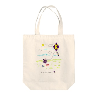 K is for Kite Tote bags
