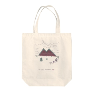 M is for Mountain Tote bags