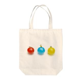 赤トマト青トマト黄トマト Tote bags