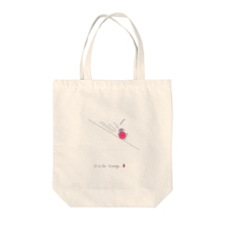 O is for Orange Tote bags