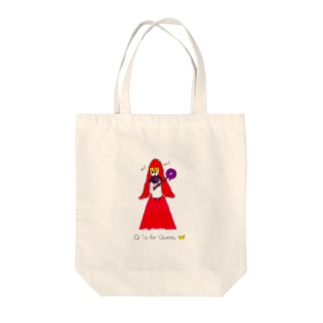 Q is for Queen Tote bags