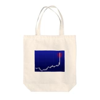ストップ高 Tote bags