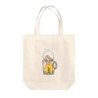 ビールちゃん Tote bags