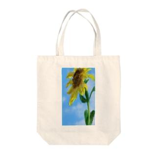 夏休みを心待ちにする向日葵 Tote bags