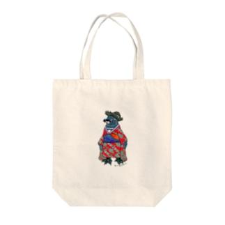 着物ぺんぎん―ガラパゴスと李― Tote bags