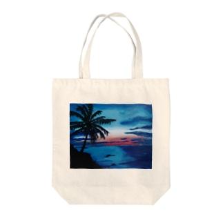 海の絵 Tote bags