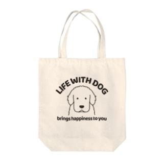 犬と共に(グレートピレニーズ) Tote bags