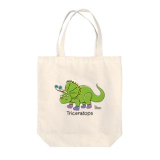 トリケラトプスさん Tote bags