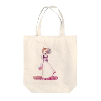 ハナ Tote bags