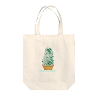 madeathのチョコミントソフト Tote bags