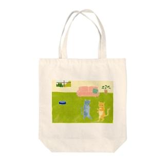 おるすばん Tote bags