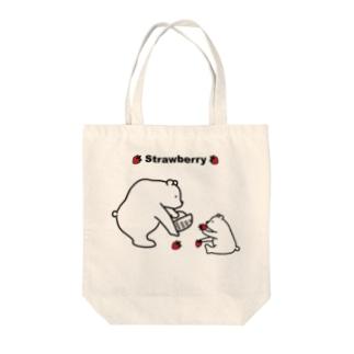 Bearさんのいちご狩り Tote bags