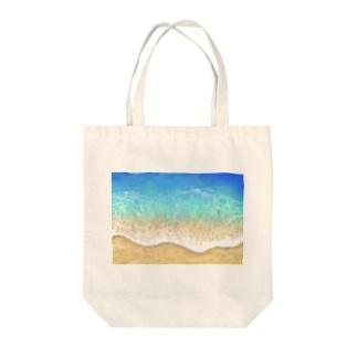 キラキラ水面・ビーチ柄シリーズ2 Tote bags