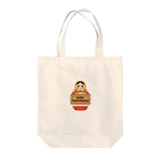 カフェマトリョーシカちゃん Tote bags