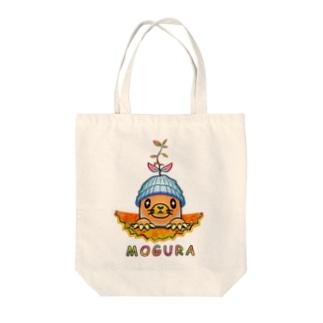 雑草モグラ Tote bags
