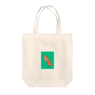 てぃらのくん Tote bags