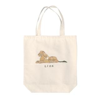 ライオンラビッツ Tote bags