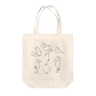 鳥たちトートせんver Tote bags