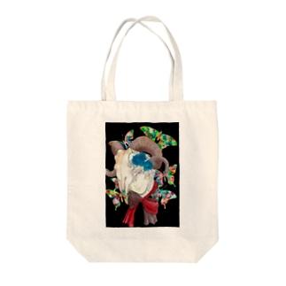 蝶と山羊骨 Tote bags